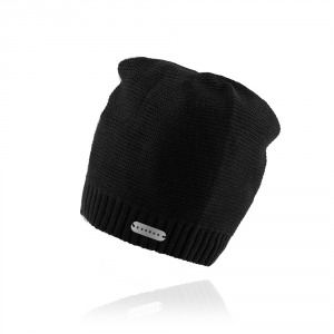 Men`s knitted hat ESSENS - black