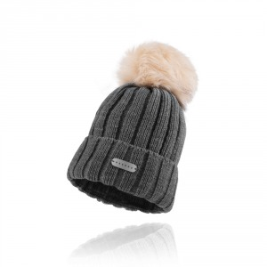 Women`s knitted hat ESSENS - dark grey