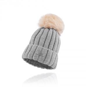 Winter Hat Lady Light Grey