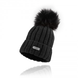 Women`s knitted hat ESSENS - black